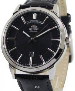 Orient-klassische automatische schwarzes Zifferblatt FEV0U003B Herrenuhr