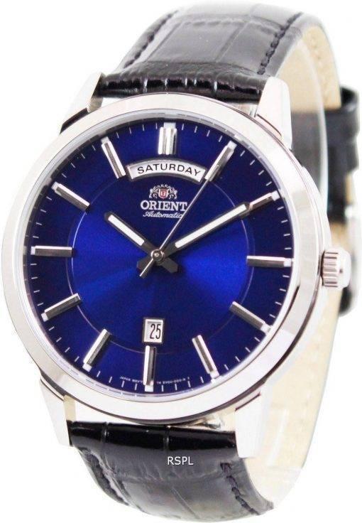 Orient-klassische automatische blaues Zifferblatt FEV0U003D Herrenuhr
