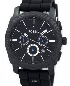 Fossil Maschine Chronograph schwarz Silikon Armband FS4487 Herrenuhr