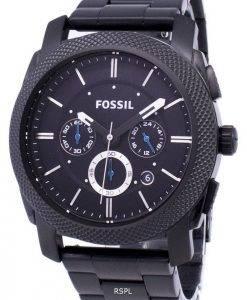 Fossil Maschine Chronograph IP Black Edelstahl FS4552 Herren Uhr