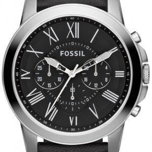 Fossil gewähren Chronograph schwarz Leder Armband FS4812 Herrenuhr