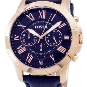 Fossil gewähren Chronograph blau Leder Armband FS4835 Herrenuhr