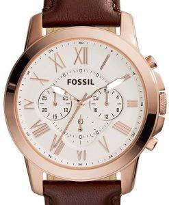 Fossil gewähren Chronograph braun Leder FS4991 Herren Uhr