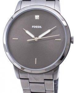 Fossilen minimalistischen FS5456 Quarz Analog Herrenuhr