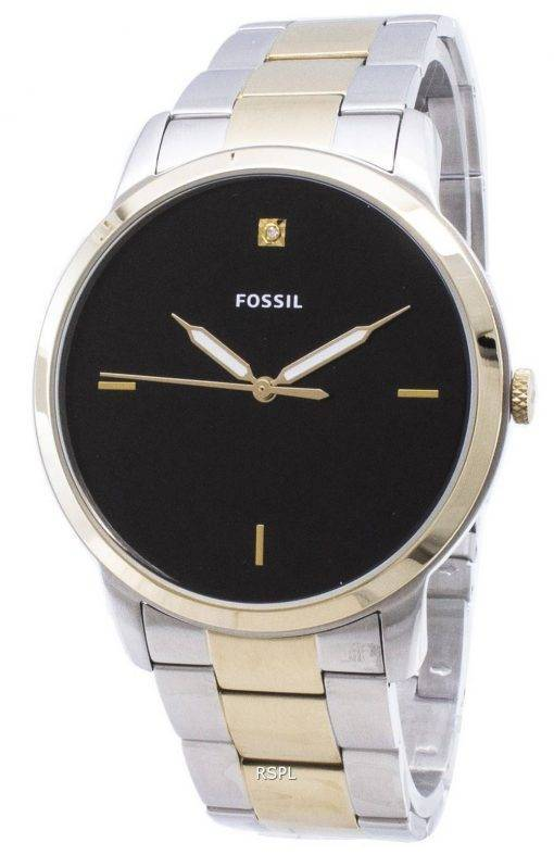 Fossilen minimalistischen FS5458 Quarz Analog Herrenuhr