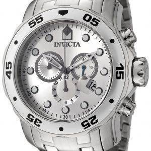 Invicta Pro Diver Quarz Chronograph Silber Zifferblatt INV0071/0071 Herrenuhr