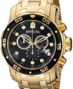 Invicta Pro Diver Chronograph Gold Tone 200 M INV0072/0072 Herrenuhr