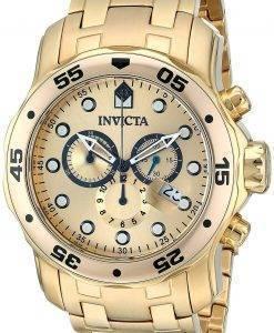 Invicta Pro Diver Chronograph Gold Dial INV0074/0074 Herrenuhr