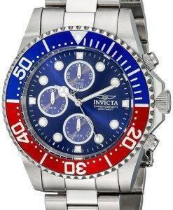 Invicta Pro Diver Chronograph 200M blaues Zifferblatt INV1771/1771 Herrenuhr