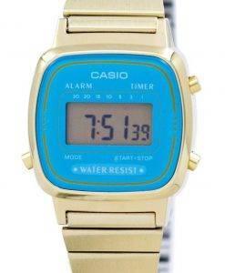 Casio Digital Edelstahl Alarm Timer LA670WGA-2DF LA670WGA-2 Damenuhr