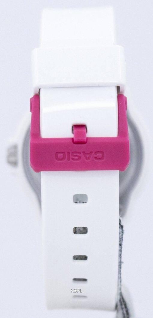 Casio Analog-heiße Rosa weisses Ziffernblatt LRW-200H-4BVDF LRW-200H-4BV Damenuhr