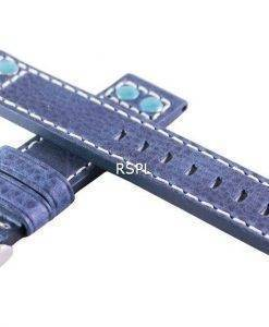 Blau-Verhältnis Marke Lederband 20mm für SKX007, SKX009, SKX011, SRP497, SRP641