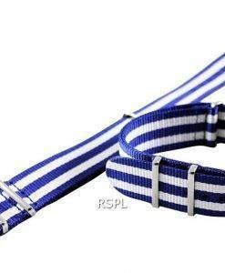 Seiko 22 mm blau & weiß-Nato Armband für SKX007, SKX009, SKX011, SRP497, SRP641