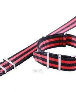 Seiko 22 mm rot & schwarz-Nato Armband für SKX007, SKX009, SKX011, SRP497, SRP641