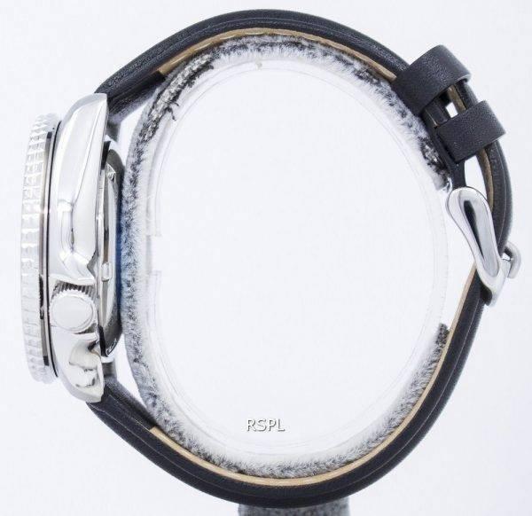 Seiko Automatik Diver Verhältnis aus schwarzem Leder SKX007J1-LS10 200M Herrenuhr