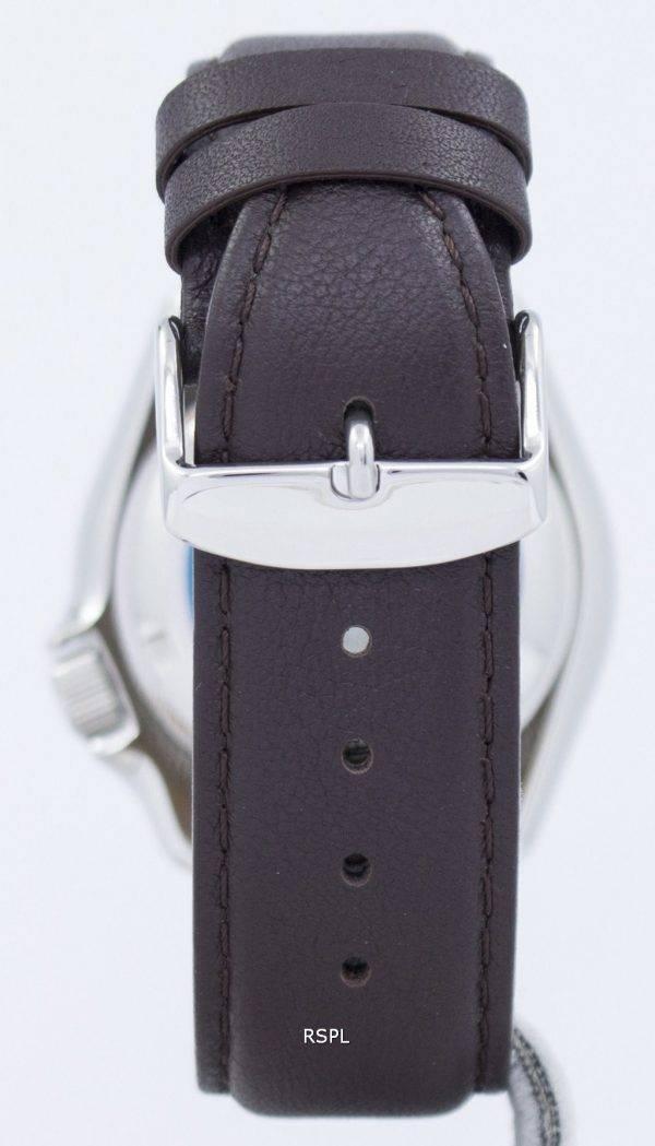 Seiko Automatik Diver 200M Verhältnis dunkelbraunes Leder SKX007K1-LS11 Herrenuhr