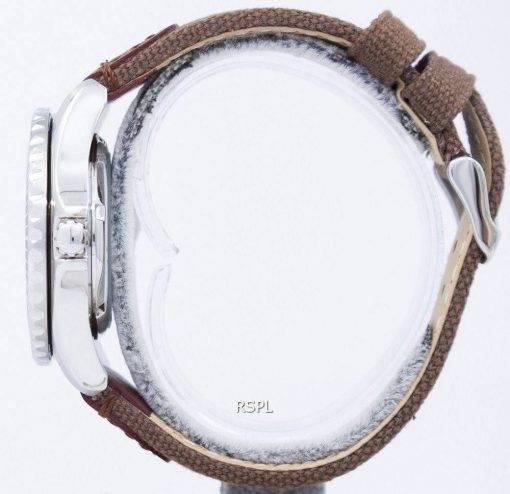Seiko 5 Sport automatische 23 Juwelen Leinwand Gurt SNZF17J1 NS1 Herrenuhr