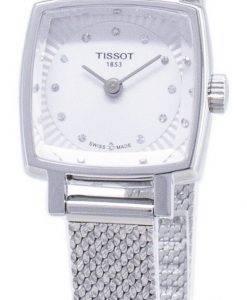 Tissot T-Lady Lovely Square T058.109.11.036.00 T0581091103600 Diamond Accents Quarz Damenuhren