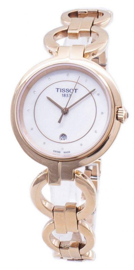 Tissot T-Lady Flamingo T094.210.33.116.01 T0942103311601 Diamond Accents Damenuhren