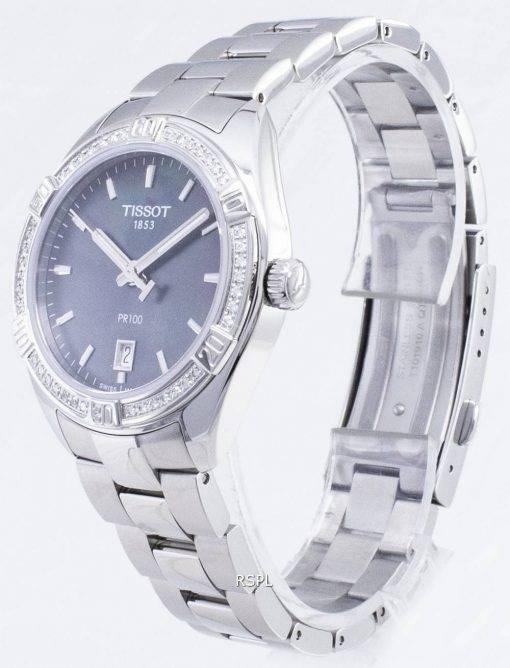 Tissot T-Classic PR 100 Lady Sport T101.910.61.121.00 T1019106112100 Diamond Accents Quartz Damenuhren