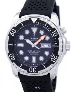 Ratio II Free Diver 1000M Helium-Safe automatische 1068HA90-34VA-00 Herrenuhr
