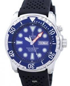 Ratio II Free Diver 1000M Helium-Safe automatische 1068HA90-34VA-01 Herrenuhr