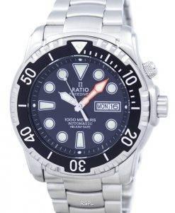 Ratio II Free Diver 1000M Helium-Safe automatische 1068HA96-34VA-00 Herrenuhr