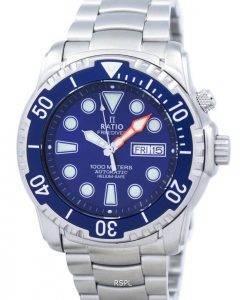 Ratio II Free Diver 1000M Helium-Safe automatische 1068HA96-34VA-01 Herrenuhr