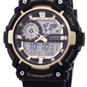 Casio Illuminator Welt Zeit Alarm AEQ-200W-9AV AEQ200W-9AV Herrenuhr