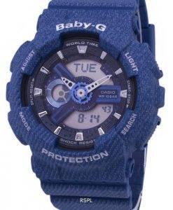 Casio Baby-G Tandem Serie Welt Zeit BA-110DC-2A2 BA110DC-2A2 Damenuhr