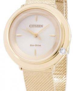 Citizen Eco-Drive L EM0642 - 87P analoge Diamant Akzenten Damenuhr