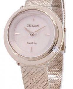Citizen Eco-Drive L EM0643-84 X analoge Diamant Akzenten Damenuhr