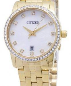 Citizen Quartz EU6032 - 51D Analog Diamond Akzente Damenuhr