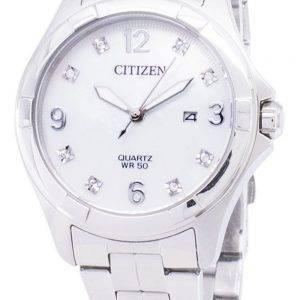 Citizen Quartz EU6080 - 58d Diamant Akzenten Damenuhr