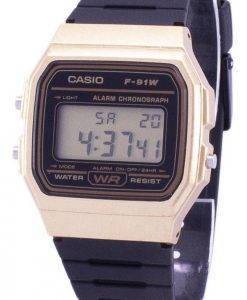 Casio Vintage Chronograph Alarm F-91WM-9A F91WM-9A Unisex Quarzuhr