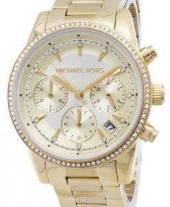 Michael Kors Ritz Chronograph Quarz Diamant Akzenten MK6356 Damenuhr