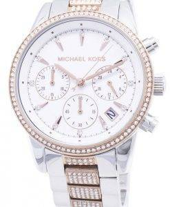 Michael Kors Ritz MK6651 Chronograph Diamond Accents Damen uhr