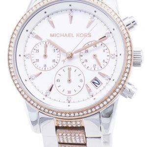Michael Kors Ritz MK6651 Chronograph Diamond Accents Damen uhr