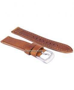 Braun-Verhältnis Marke Lederband 20mm