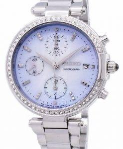 Seiko Chronograph Quarz Diamant Akzent SNDV39 SNDV39P1 SNDV39P Damenuhr