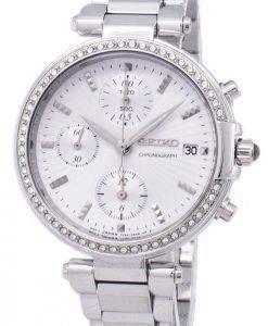 Seiko Chronograph Quarz Diamant Akzent SNDV41 SNDV41P1 SNDV41P Damenuhr
