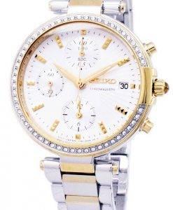 Seiko Chronograph Quarz Diamant Akzent SNDV42 SNDV42P1 SNDV42P Damenuhr