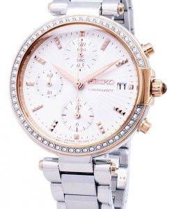 Seiko Chronograph Quarz Diamant Akzent SNDV44 SNDV44P1 SNDV44P Damenuhr
