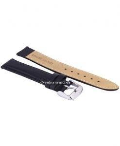 Schwarze Verhältnis Marke Lederband 18mm