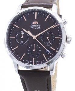 Orient Zeitgenössischer Chronograph RA-KV0304Y00C Quarz Japan Made Herrenuhr