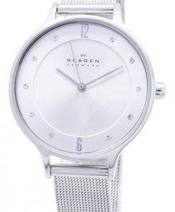 Skagen-Anita Silber Zifferblatt Swarovski Crystal Mesh Bracelet SKW2149 Damenuhr