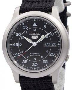 Seiko Herrenuhr 5 Military Automatic Nylon SNK809K2 SNK809