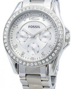 Refurbished Fossil Riley ES3202 Chronograph Diamond Accents Damenuhr