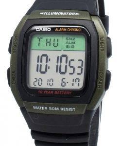 Casio Jugend W-96H-3AV W96H-3AV Dual Time Chrono 10 Jahre Batterie Herrenuhr