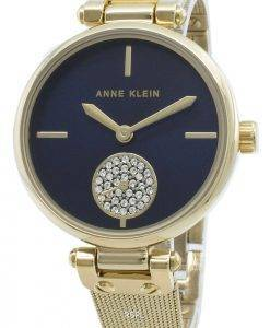 Anne Klein 3000NVGB Diamond Accents Quarz Damenuhr